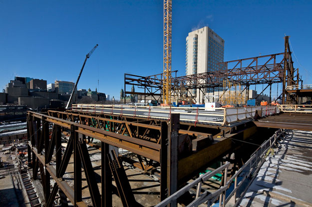 Ottawa Convention Centre - Walters Steel progresses to 2nd & 3rd floors
