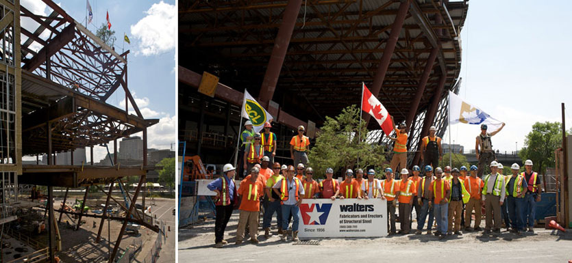 Ottawa Convention Centre - Final beam, signed & put into place.