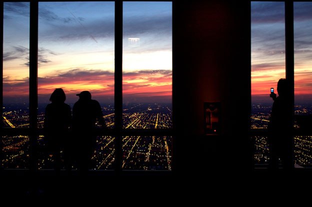 The Sky Deck at Willis Tower formerly Sears Tower - Chicago / Skidmore Owens & Merrill Architects