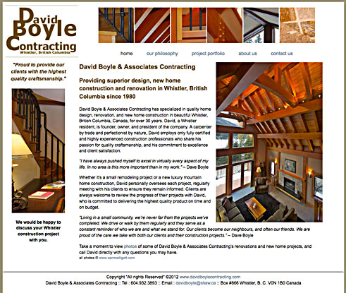 David Boyle Contracting Whistler